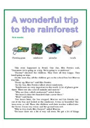Reading. A wonderful trip to the rainforest