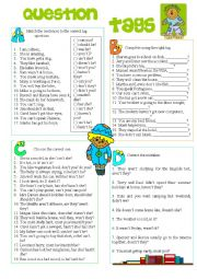 English Worksheet: Tag Questions Review
