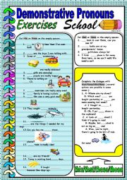 English Worksheet: Demonstrative pronouns- this, that, these, those