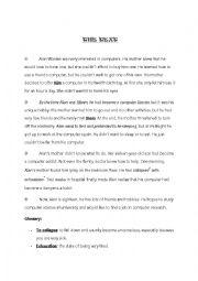 English Worksheet: reading about internet addiction plus language tasks