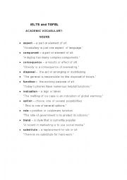 English Worksheet: IELTS and TOFEL