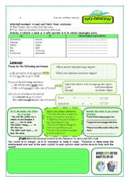 English Worksheet: Lesson 27 :Our World our Environment (part 2)