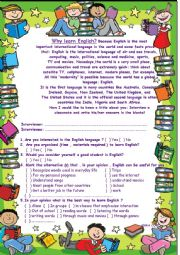 English Worksheet: How English is important...