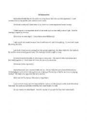 English Worksheet: B2 Interactive Situations