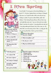 English Worksheet: I LOVE SPRING!