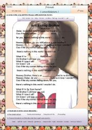 English Worksheet: relationships(based on a song by Avicii