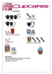 English Worksheet: CUPCAKE