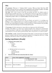 English Worksheet: Full term test 3 for 9th pupils