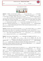 English Worksheet: Verb Tense Revision - The World of Work