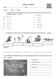 english worksheets the weather worksheets page 146. Black Bedroom Furniture Sets. Home Design Ideas