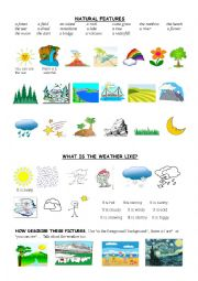 English worksheet: LANDSCAPES AND THE WEATHER elementary