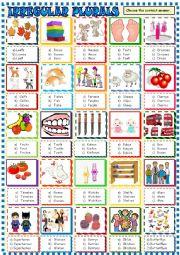 English Worksheet: Irregular plurals / Multiple choice activity