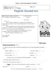 English Worksheet: test about applying for a job