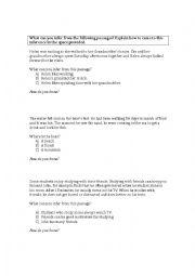English Worksheet: Inference exercise sheet