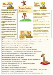English Worksheet: Present Perfect Continuous