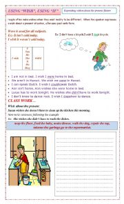 English Worksheet: Express wishes about the present