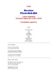 English Worksheet: Doctor First-Aid-Kit