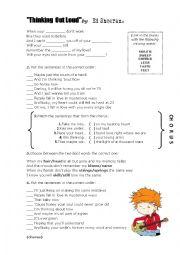 English Worksheet: Ed Sheeran - Thinking Out Loud