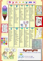 SYNONYMS  + TASKS