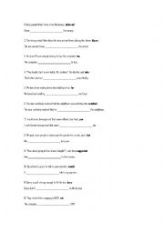 English Worksheet: FIRST CERTIFICATE USE OF ENGLISH