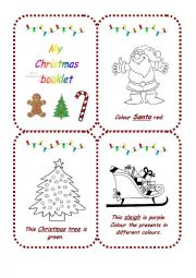 Christmas colouring booklet
