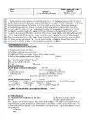 English Worksheet: test 1bac Gateway unit1