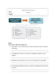 English Worksheet: Contrast linkers