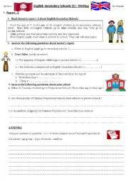 English Secondary Schools 2. Writing reports