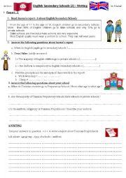 English Worksheet: English Secondary Schools 2. Writing reports