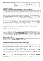 English Worksheet: Mid-term test Bac