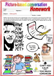 English Worksheet: Picture based conversation.  Homework. (Debating) 31/�