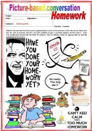 English Worksheet: Picture based conversation.  Homework. (Debating) 31/�