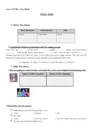 English Worksheet: lesson A2,fairy tales 2nd year