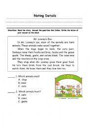english worksheets the animals worksheets page 258. Black Bedroom Furniture Sets. Home Design Ideas