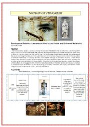 English Worksheet: Picture-based conversation: topic PROGRESS and technology (robots)