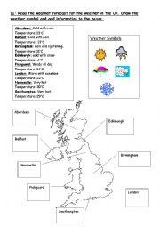 english worksheets the weather worksheets page 25. Black Bedroom Furniture Sets. Home Design Ideas