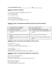 English Worksheet: Hall of Fame by The Script