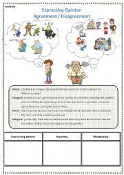 English Worksheet: Expressing Opinion / Generation Gap