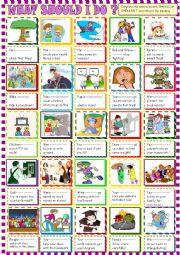 English Worksheet: What should I do/ should /shouldn´t in sentences