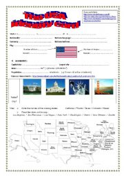 Webquest THE USA
