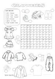 English Worksheet: clothes 2