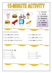 15 minute activity esl worksheet by talles melo. Black Bedroom Furniture Sets. Home Design Ideas