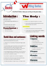 English Worksheet: Guided writing : Education