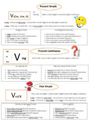5 types of questions in 3 tenses