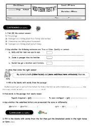9th form test nb1