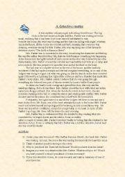 English Worksheet: A detective matter