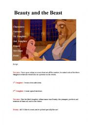 English Worksheet: Beauty and the Beast, scripts