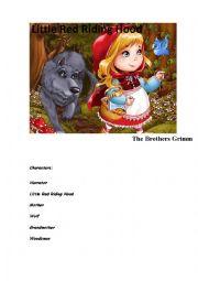 English Worksheet: Little Red Riding Hood, Children PLAYs