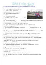 English worksheet: Take a rain check