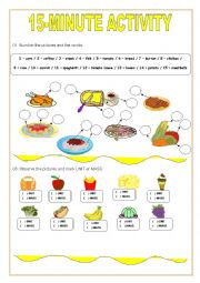 English Worksheet: 15-minute activity